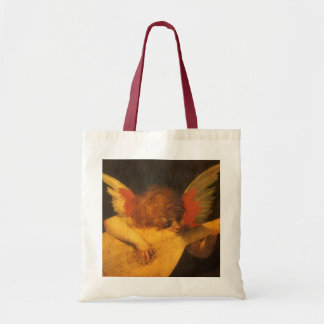 Musician Angel by Rosso Fiorentino, Vintage Art Canvas Bag