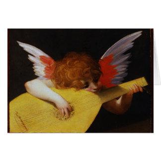 Musician Angel, Rosso Fiorentino Card