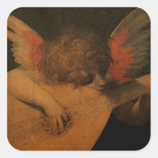 Musician Angel Square Sticker
