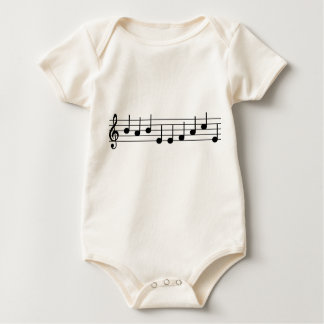 Musician Baby BABY FACE notes Baby Bodysuit