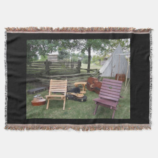 Musician Band Camp Throw Blanket