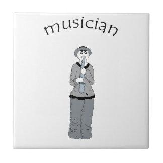 musician ceramic tile