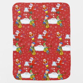 Musician Christmas Elves Baby Blanket