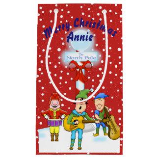 Musician Christmas Elves Gift Bag
