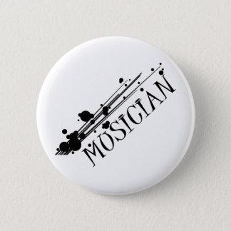 Musician cool design!! 6 cm round badge