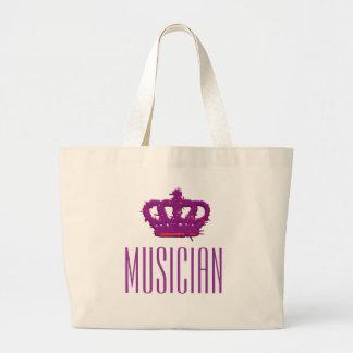 Musician Crown Jumbo Tote Tote Bag