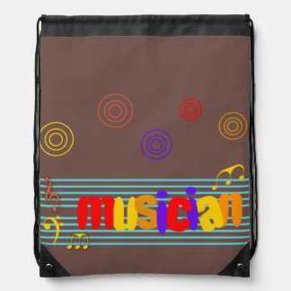 Musician Drawstring Backpack