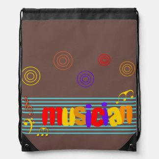 Musician Drawstring Backpack
