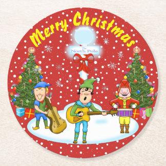 Musician Elf Christmas Band Christmas Coasters