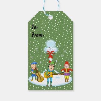 Musician Elves Christmas Gift Tags