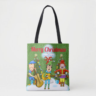 Musician Elves Christmas Tote Bag