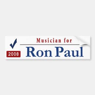 Musician for RON PAUL Bumper Sticker
