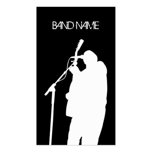 Musician Guitarist Singer Band Artist Publicity Business Cards
