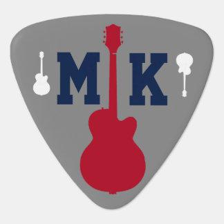 musician (guitarman) initials personalized plectrum