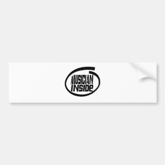 Musician Inside Bumper Stickers