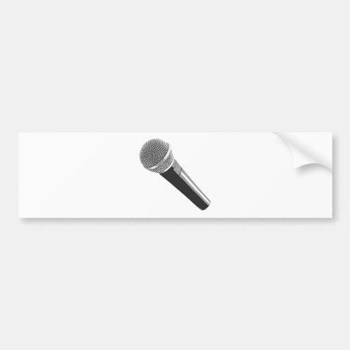 Musician Microphone Bumper Sticker