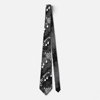 Musician Music Notes Tie