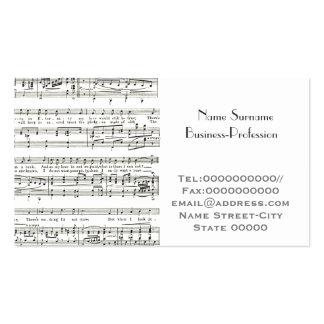 musician, music tutor pack of standard business cards