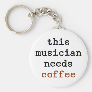 musician needs coffee key ring
