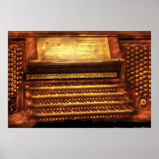 Musician - Organist - The Pipe Organ Print