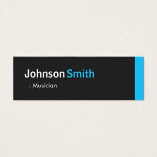 Musician - Personal Aqua Blue Mini Mini Business Card