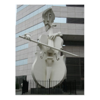 Musician Sculpture Postcard