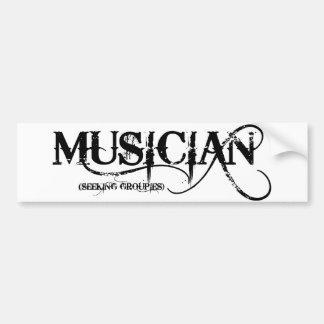 Musician...seeking Groupies! Bumper Stickers