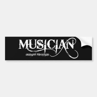 Musician...seeking Groupies! Bumper Sticker