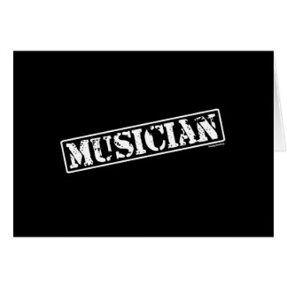 Musician Stamp Card
