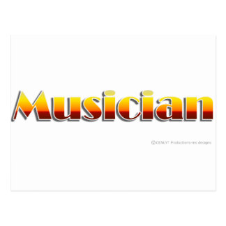 Musician (Text Only) Postcard