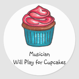 Musician Will Play for Cupcakes Sticker