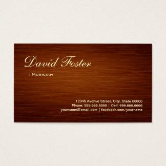 Musician - Wood Grain Look Business Card