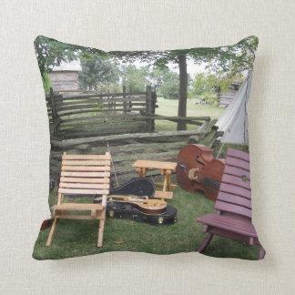 Musician's Band Camp Pillow - Dark Green Cushion
