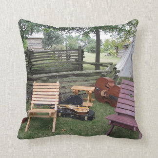 Musician's Band Camp Pillow - Dark Grey Throw Cushions