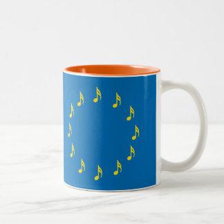 Musicians for European Union mug semiquaver