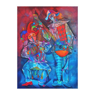 Musicians Harlequin Canvas Print