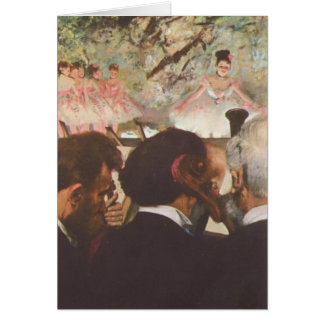 Musicians in the Orchestra by Edgar Degas Card