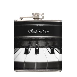 Musician's Inspiration Piano Personalized Flask