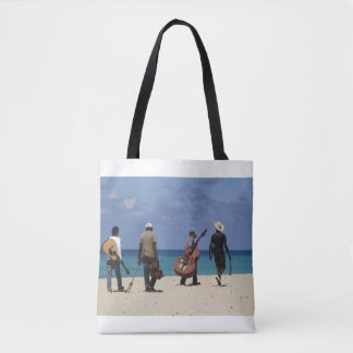 Musicians On Beach Tote Bag