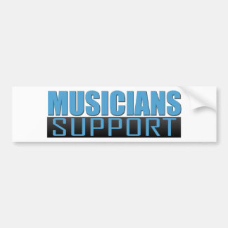 Musicians Support logo Bumper Sticker