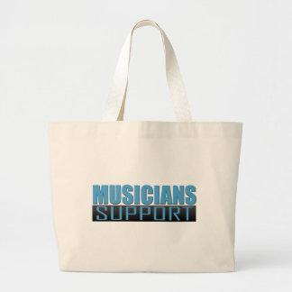 Musicians Support logo Jumbo Tote Bag