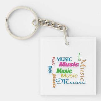 MusicWord Cloud 3 Key Ring