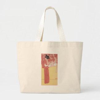 Musik (lithograph) by Gustav Klimt Jumbo Tote Bag