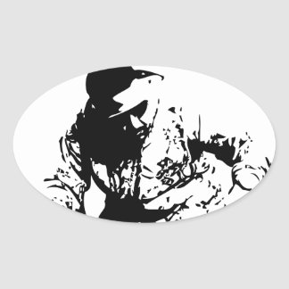 Musik Oval Sticker