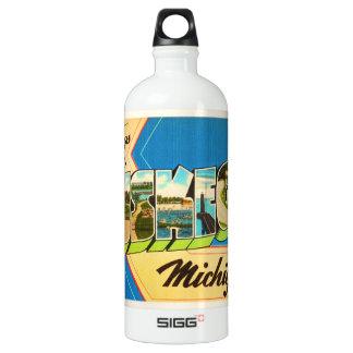 Muskegon Michigan MI Old Vintage Travel Souvenir SIGG Traveller 1.0L Water Bottle