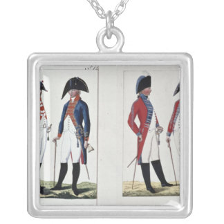 Musketeers and Officers, 1800 Silver Plated Necklace