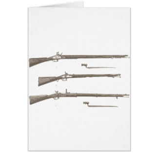 Muskets Old Rifles Vintage Antique Guns Card