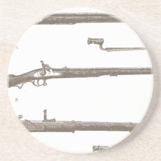Muskets Old Rifles Vintage Antique Guns Coaster
