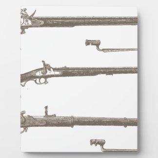 Muskets Old Rifles Vintage Antique Guns Plaque