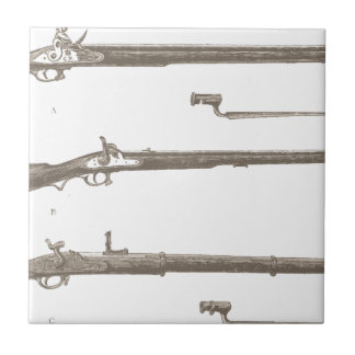 Muskets Old Rifles Vintage Antique Guns Tile